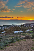 Tight View As Sun Drops Below West End Of Island Off Ventura's Coast.
