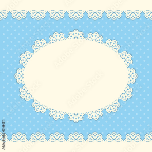 Fotografia, Obraz  Vintage card with lace doily