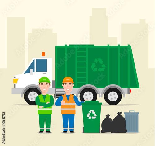 Fotografering  garbage collection