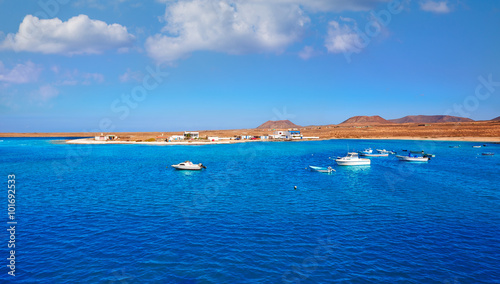 Foto op Canvas Canarische Eilanden Majanicho in Fuerteventura Canary Islands