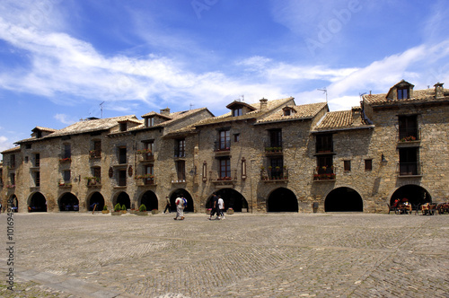 Square of Ainsa, Huesca , Aragon, Spain