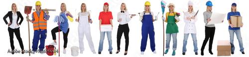 Berufe Beruf Ausbildung Business Frau Berufswahl Menschen stehen Wallpaper Mural