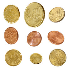 Euro Coins Collection Isolated