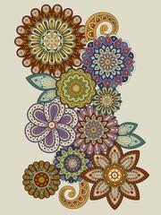 Plakat elegant flower coloring page