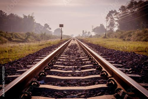 Poster Voies ferrées vintage railroad