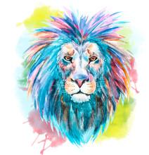 Watercolor Vector Lion