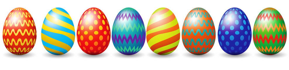 FototapetaRow of easter eggs