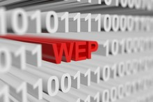WEP Is Presented In The Form Of A Binary Code With Blurred Background