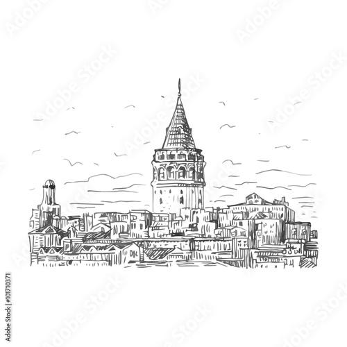 Photo  The Galata Tower, Istanbul, Turkey