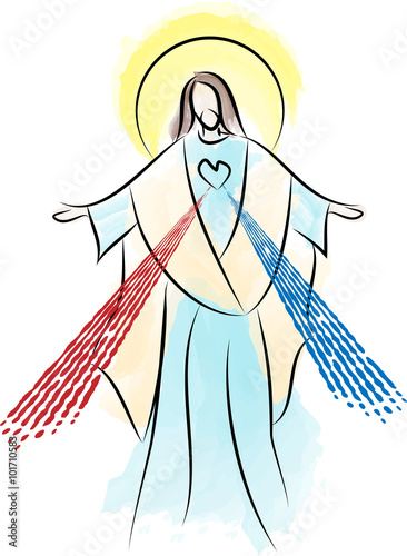 Photographie Jesus Christ the Risen Lord, Sacred Heart Divine Mercy