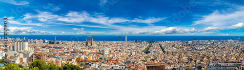 Panoramic view of Barcelona Canvas Print