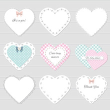 Cute Lacy Hearts Set. Girly Sc...