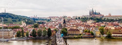 Foto auf Leinwand Toskana Charles bridge in Prague in summer