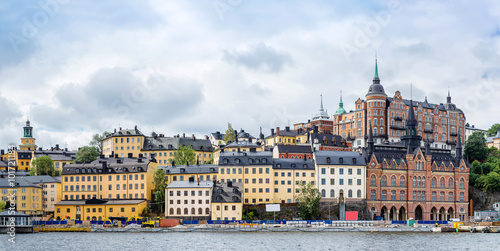 Photo  Ppanorama of the Old Town  in Stockholm, Sweden