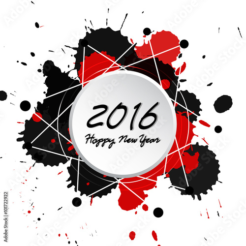 Fotobehang Vrouw gezicht Colorful Bright New Year 2016 Background