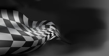 Checkered Race Flag. Racing Flags. Background Checkered Flag For