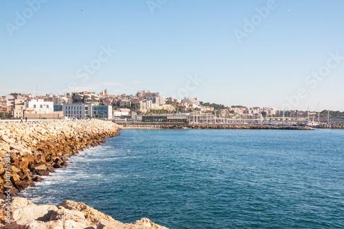 Ville de Tarragone, Espagne, vue de la mer