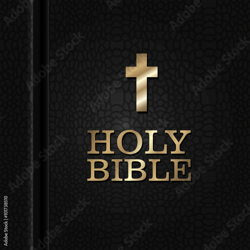 Fotobehang Stof Holy bible book