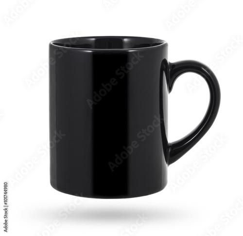 Black mug isolated on a white background