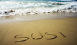 Declaration of Love -On the Beach of Menorca, Spain