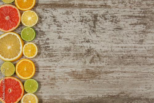 Fotografie, Obraz  Citrus fruits background