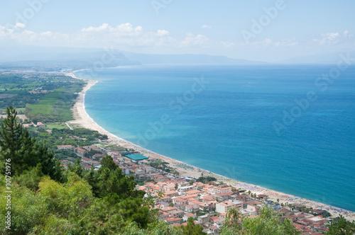 Fotografie, Obraz  View of the beach of Scilla, Calabria, Italy
