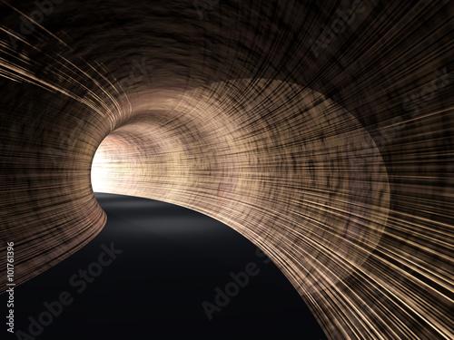konceptualny-ciemny-abstrakcjonistyczny-drogowy-tunel-z-jaskrawym-swiatlem-przy