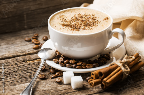 Wall Murals Cafe Coffee cup and saucer