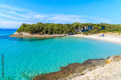 Fotografie, Obraz  A view of idyllic Petit Sperone beach with crystal clear turquoise sea water, Co