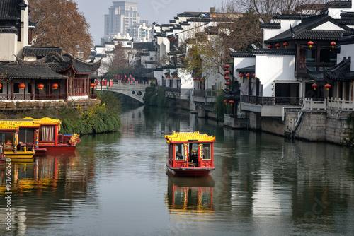 Foto auf Leinwand China Qinhui river, Nanjing city, China