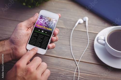 Composite image of music app - 101764198