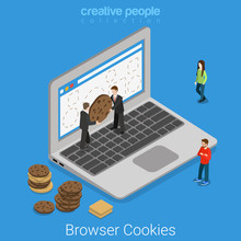 Laptop Browser Cookie Internet...