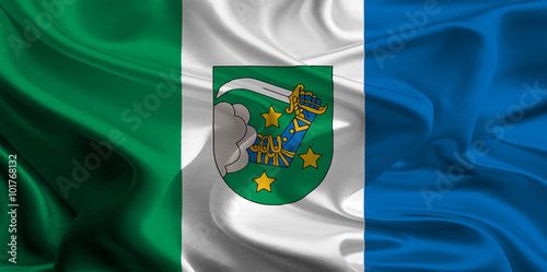 Flag of Valka District, Latvia Wallpaper Mural