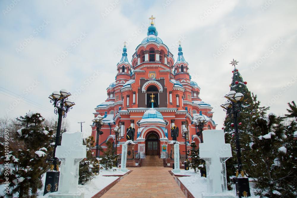 Fototapety, obrazy: Kazan Cathedral Irkutsk