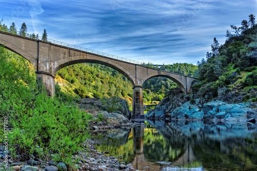 Mountain Quarries Railroad Bridge Canvas Print