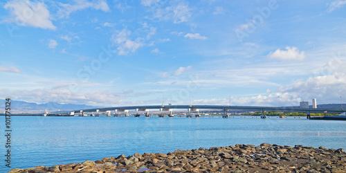 Photo  Admiralty Clarey Bridge, Ford Island, Pearl Harbor, Hawaii