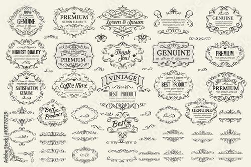 Fotografía  Calligraphic Design Elements