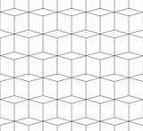 3D cubes spatial seamlessly repeatable monochrome pattern - 101782120