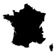 France map on white background vector