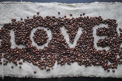 Coffee love heart