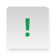 Green Exclamation Mark icon in circle on white app button