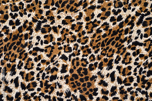 Poster Leopard texture of print fabric striped leopard