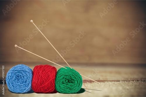 Fotografie, Obraz  Knitting.
