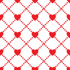 Fototapeta Walentynki Seamless love background with hearts