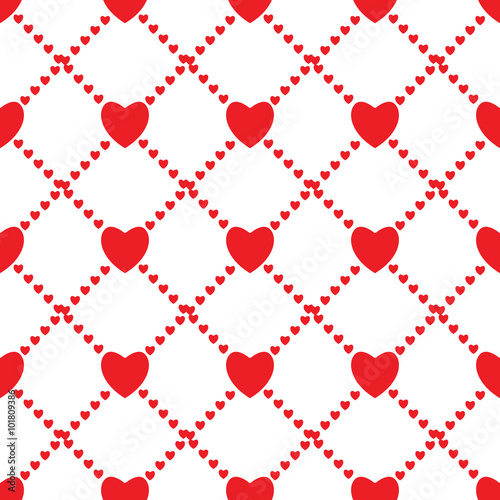 Seamless love background with hearts - 101809386