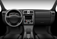 Truck Interior - Inside View Of Car, Dashboard