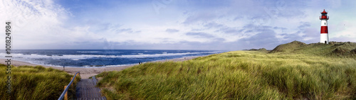 Poster North Sea Sylt am Strand Panorama