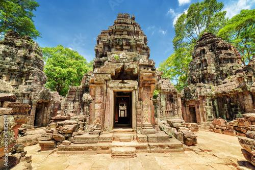 Fototapeta premium Sanktuarium starożytnej świątyni Ta Som, Angkor, Siem Reap, Kambodża