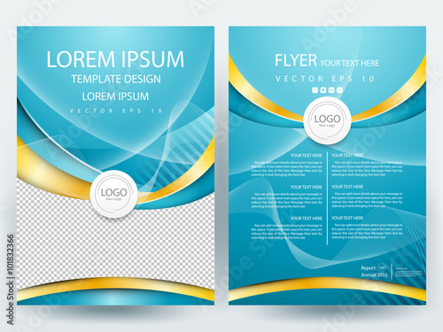Abstract Vector Modern Flyers Brochure Annual Report Design Templates Page With White