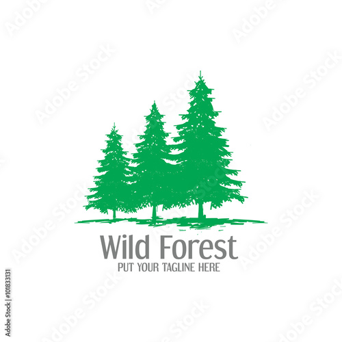 wild forest logo icon buy this stock vector and explore similar